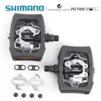 Shimano PD-T400 Click'R pedaleo SPD incl placas SM-SH56 ciudad/bicicleta auto bloqueo pedales