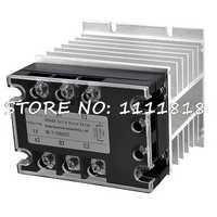 DC-AC 25A 5-32VDC/380VAC trifásico SSR relé de estado sólido w disipador de calor de aluminio
