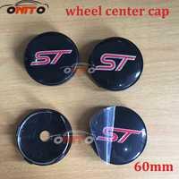 Al por mayor 100 piezas 60mm ST Car Wheel Hub Center Caps emblema Logo insignia para kuga fusion fiesta tránsito mustang ranger