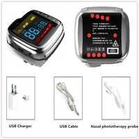 Inicio uso bajo nivel física terapia láser reloj de alta pulse sangre y alta Suger sangre tratamiento