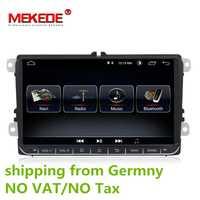 HD 9 pulgadas coche Radio 9 ''Android 8,0 vehículo GPS navegación DVD para VW Golf Polo Passat Beetle Touran Jetta para SKODA para asiento