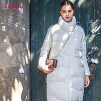 2019 mode femmes hiver long doudoune épaissir décontracté femmes chaud parka col montant vêtements d'extérieur pour femmes pardessus grande taille