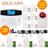 Kit de sistema de alarma inteligente de seguridad antirrobo para hogar, sistema de alarma GSM, sistema de alarma GSM, sistema de alarma ruso/español