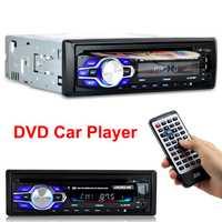 Radio reproductor de DVD de coche Automotivo 1 Din 12 V Bluetooth Autoradio de Audio Auto estéreo AUX USB DVD VCD CD MP3 tarjeta SD Radios Para Carro