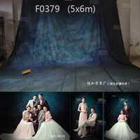 Más reciente 16x20ft/5x6mTye-Die fantasía familia Contexto, hecho a mano fotografía de fondo boda F0379