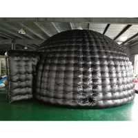 Inflable negro, tienda inflable de alta calidad con soplador gratis