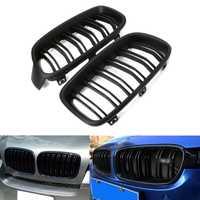 1 Paire Noir Mat/Brillant Noir Avant Grille Rein Pour BMW 3-Series F30 F31 F35 2012-2016 NOUVEAU livraison Shipping-m20