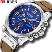 CURREN 8314 Relojes nuevos de cuero para hombre reloj de pulsera cronógrafo reloj de pulsera de cuarzo de moda para hombre reloj Casual deportivo para hombre