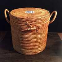 Vietnam ratán tejido azul y blanco porcelana té lata hecho a mano Puer té tartas caja embalaje Cajas de Regalo Almacenamiento de contenedores de alimentos caja