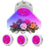 Planta LED crecer luz completa espectro UV IR lámpara de crecimiento Panel UFO Indoor invernadero Veg flor cultivo hidropónico 300 W
