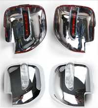 Marco de la cubierta del espejo de la revisión del ABS del coche con la luz LED para Mitsubishi Montero Pajero V73 Auto partes exteriores de coche estilismo
