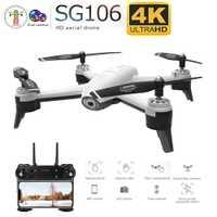 SG106 WiFi FPV RC Drone 4K caméra flux optique 1080P HD double caméra aérienne vidéo RC quadrirotor avion Quadrocopter jouets enfant