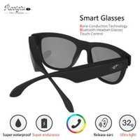 Reotgtu auricular de conducción ósea Bluetooth gafas de sol Altavoz Bluetooth inteligente salud deportes auriculares inalámbricos con micrófono