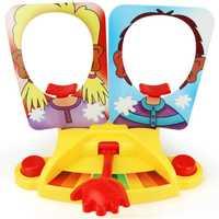 Doble persona juguete pastel crema Pie en la cara Anti estrés juguete para niños partido divertido juego divertido Gadgets bromas para niños regalo
