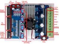 4 eje motor paso a paso TB6560 cnc router conductor del motor controlador