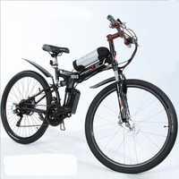 26 pulgadas batería de litio bicicleta eléctrica plegable bicicleta eléctrica de montaña 48 V 500 W motor, E-bike macho y hembra estudiante