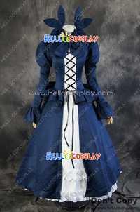 Danza en el vampiro Bund Cosplay mina tepes traje del vestido azul H008