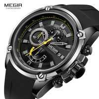 Relojes MEGIR para hombre, relojes de marca de lujo, para hombre, militar, militar, hombre, reloj deportivo, correa de cuero, cuarzo, reloj de pulsera para hombre 2019