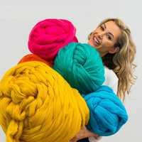 1000g/Super grueso lana hilo grueso de lana de mecha, hilo hilado tejer a mano girar hilado bricolaje Manta
