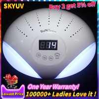 48 W lámpara de uñas UV lámparas hielo secador de uñas de Gel polaco máquina de curado de sol UV manicura 2 las uñas de arte DIV con ventilador