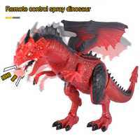 Control remoto dinosaurio de peluche con sonido de la luz regalos de juguetes para niños M09
