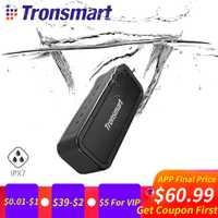 Tronsmart fuerza Altavoz Bluetooth portátil IPX7 impermeable Music Surround altavoz al aire libre 40 W micrófono altavoz para teléfonos