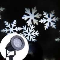 Copo de nieve blanco proyector impermeable al aire libre Navidad luces LED láser Luz romántica Lámparas para césped para la decoración casera