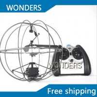 Envío libre 3.5 canales Gyro mini helicóptero OVNI aviones de control remoto de la mosca de la bola