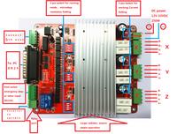 Ventas directas de la fábrica/CNC 3 ejes TB6560 3.5A de controlador de Motor paso a paso de Mach3