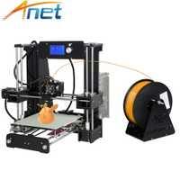 Pas cher Anet A6 A8 3D imprimante facile à assembler haute précision Reprap Prusa i3 3D imprimante Kit bricolage avec PLA 10m Filaments 3D Drucker