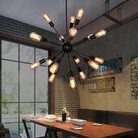 E27 bombillas de Edison Vintage Loft Industrial luz colgante 12/16/18/20 Sputnik lámpara colgante Bar restaurante luces