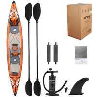 Kayak gota de alta presión material 2 Persona inflable doble kayak paddle sistema de drenaje barco inflable bote de balsa