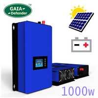 1000 W batería de potencia de descarga/modo MPPT red de energía Solar inversor DC 22 V-60 V o 45 V-90 V viento/Sistema PV