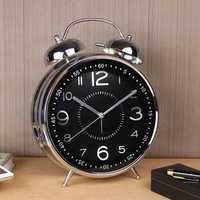 8 pulgadas reloj de alarma reloj Retro de Metal de mesa de campana Mesa Digital relojes de alarma de la habitación dormitorio Casa Decor