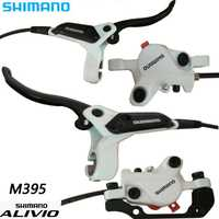 SHIMANO ALIVIO M395 bicicleta MTB bicicleta de freno de disco hidráulico de abrazadera de montaña para freno de disco de bicicleta XT y de freno de hoja tornillos