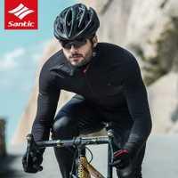 Santic nuevos hombres térmico ciclismo chaqueta de Invierno Caliente ropa de la bicicleta a prueba de viento impermeable deportes abrigo MTB bicicleta Jersey