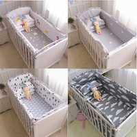 Dropshipping. exclusivo. 6 Unid 100% algodón bebé de cuna parachoques ropa de cama de bebé de dibujos animados ropa de cama juegos de cama de bebé cerca de las sábanas de la cama recién nacido parachoques