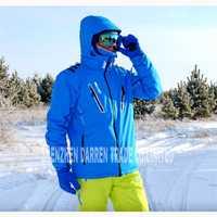 Nuevo de invierno al aire libre de los hombres chaqueta de esquí a prueba de agua transpirable térmica de snowboard outcoat nieve esquí chaqueta verde azul negro