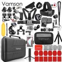 Juego de accesorios Vamson para Gopro hero 7 6 5 4 3 para cámara de acción DJI OSMO para xiaomi funda para yi EVA VS83
