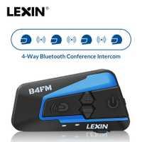 2018 Nuevo llegador Lexin LX- B4FM para 4 personas hablando al mismo tiempo con el Sonido Fuerte de Calidad Alto, Multi-función/ Fm Radio/Universal/función de emparejamiento universal