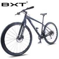 BXT 29 pulgadas bicicleta de montaña de carbono nuevo 29er eje a través del marco 11*1 velocidad T800 MTB freno de disco de bicicleta fibra de carbono ciclismo