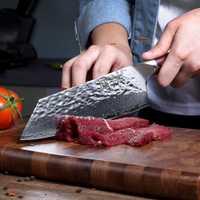 Sunnecko 7 Damasco cuchillo japonés AUS10 núcleo de acero martillo hoja G10 cocina Chef Nakiri cuchillos corte