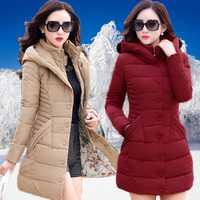 Las mujeres de mediana edad con la versión coreana de la chaqueta acolchada de algodón en las mujeres de gran tamaño Delgado abajo Mianfu grueso abrigo de invierno