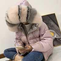 Chaqueta de invierno de las mujeres de piel de mapache 2019 Real, Collar de las mujeres chaqueta de invierno con capucha de piel de conejo Parkas cálido grueso de plata mujer abrigo