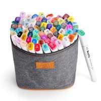 Arrtx Dual Tips rotulador 80 colores Alcohol soluble Art Sketch rotulador Set para diseño de dibujo con bolsa de transporte