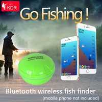 Nuevo Teléfono KDR Bluetooth inteligente buscador de peces inalámbrico pesca Visual envío gratuito