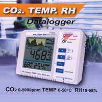Detector de Gas CO2 de carbono Dioxinde registrador de datos de calidad del aire alarma de temperatura tendencia registro RH medidor probador de Gas