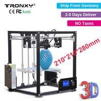 Impresora Tronxy 3D X5 impresora de escritorio de aluminio de alta precisión de calidad completa 3D kit completamente ensamblado gran impresión 3D 210*210mm