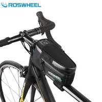 Roswheel bicicleta bolsa impermeable cesta delantera bicicleta Top Frame Tube bolsa alforjas ciclismo silla bolsa accesorios de bicicletas