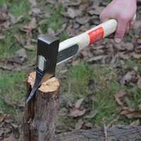Forjado a mano de rieles de acero hacha al aire libre Camping caza madera tala Axe herramientas de supervivencia hacha de hielo Poleaxe